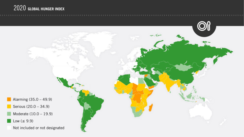 Map Image_2020 Global Hunger Index by Severity