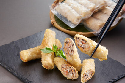 Fried Spring Roll with Tiger Prawn, Frozen
