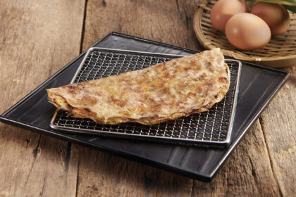 Grilled Rice Paper with Minced Pork