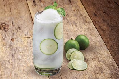 Lime Juice with Lemongrass Lime Sorbet