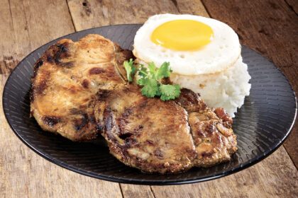 Grilled Pork Chop with Rice